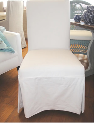 dining slipcover natural linen chairs beige slipcovered