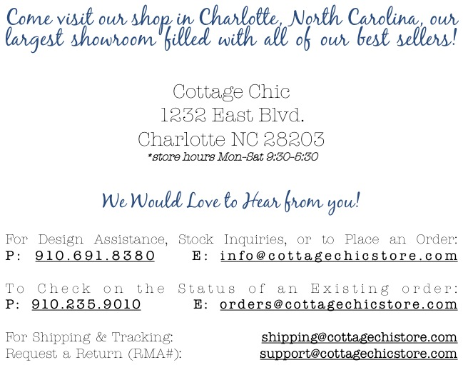 Cottage Chic Contact Us