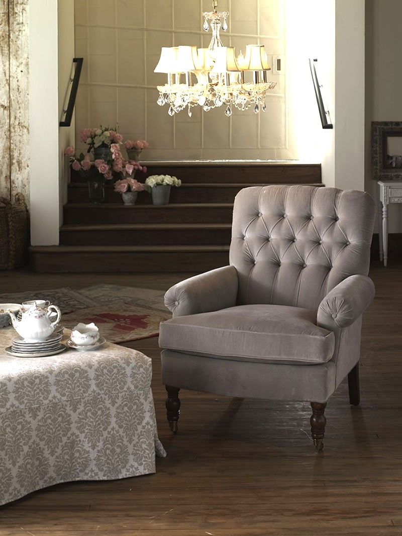 Shabby Chic® Essex Upholstered Chair click for a detailed view
