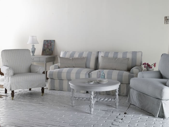 Shabby Chic Sofa Comfy Slipcovered