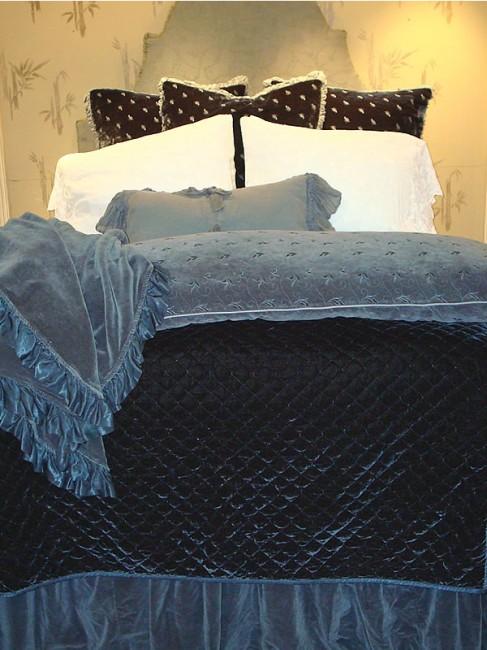 Silk Velvet Quilted Coverlet Bella Notte Linens