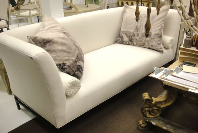 Elegant Tara Shaw Shelter Sofa In Belgian Linen