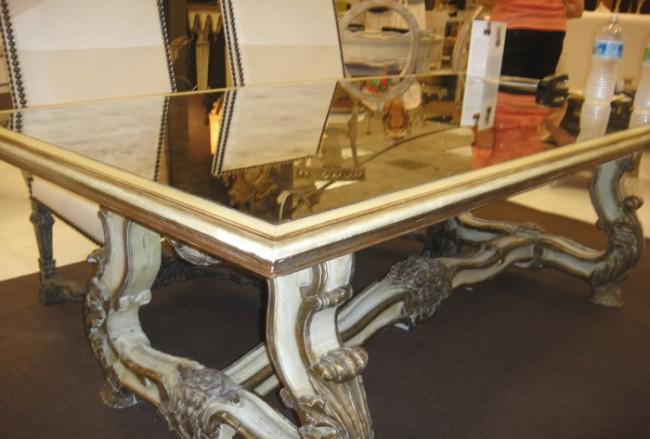 Tara Shaw Italian Table With Mirrored Top