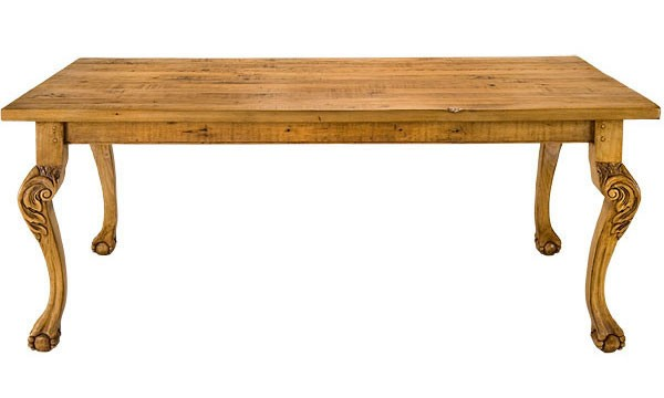 Clawfoot Curved Leg Table