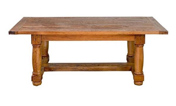 french country furniture dining tables unfinished oak san miguel fat leg stretcher. Black Bedroom Furniture Sets. Home Design Ideas