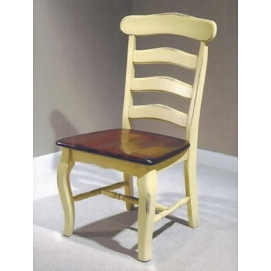 Awesome Country French Ladderback Side Chair Country French Ladderback Side Chair  Click For A Detailed View