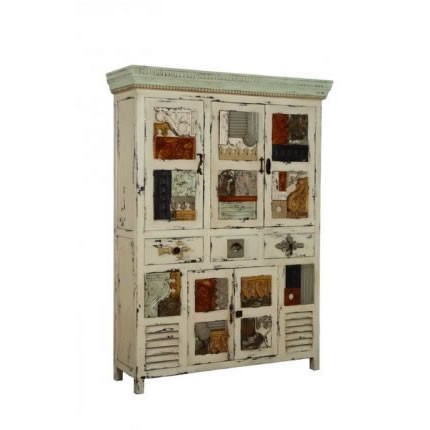 cottage chic french country furniture shelving cabinets artifacts collage. Black Bedroom Furniture Sets. Home Design Ideas