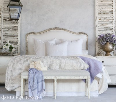 ELOQUENCE Sophia Silver Two-Tone Headboard