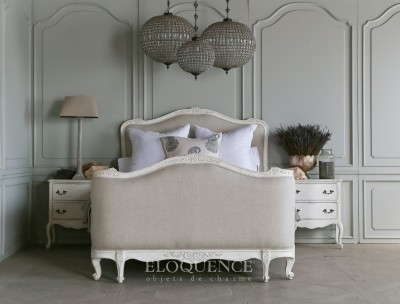 Eloquence® Sophia King Bed Fog Linen / Antique White