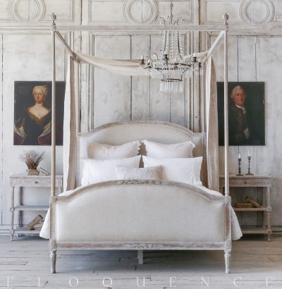 Eloquence® Dauphine Queen Canopy Bed in Beach House Natural