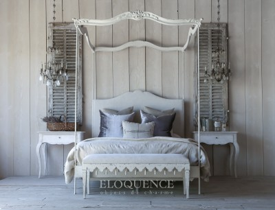 Eloquence® Aria Queen Canopy Bed in Stone