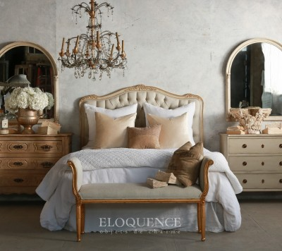 Eloquence® Sophia Queen Gold Two-Tone Headboard