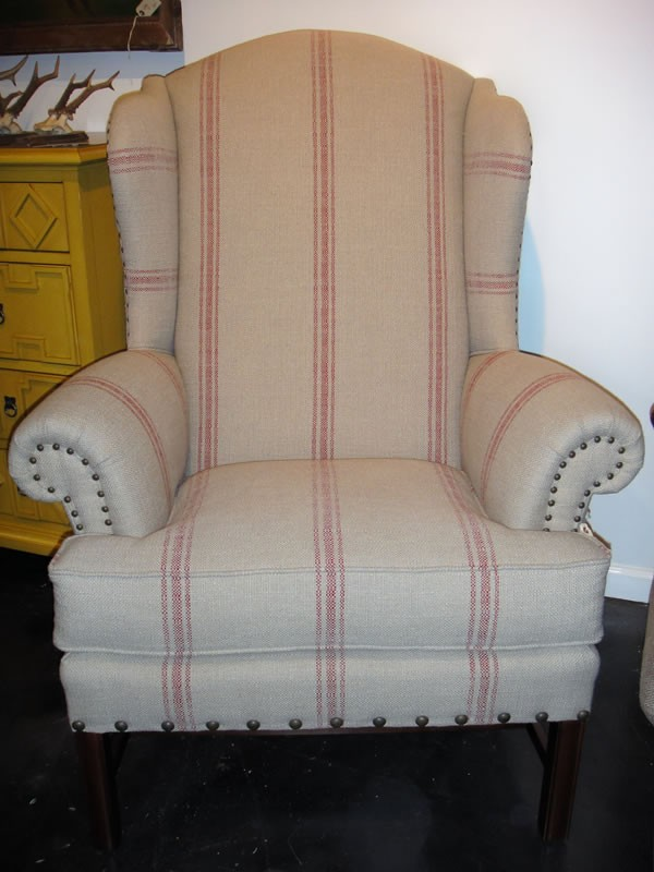 French Country Large Wing Back Chair