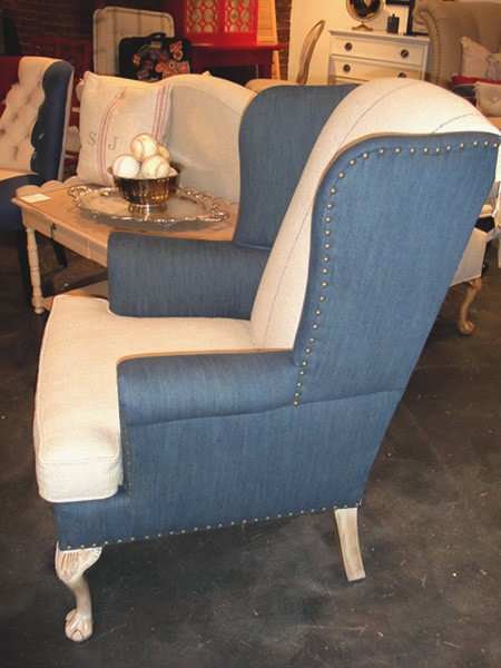 French Country Small Wingback Chair
